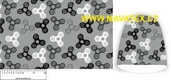 Panel na čepice SKEJŤAČKA - spinery šedý s šedými