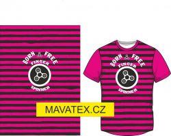 Panel na triko -růžový pruh+ spiner