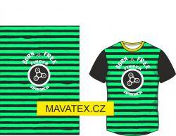 Panel na triko - zelený pruh+ spiner