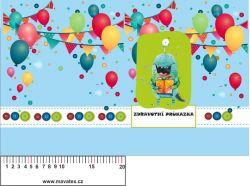 Zdravotní průkaz modrý příšerkou a balonky