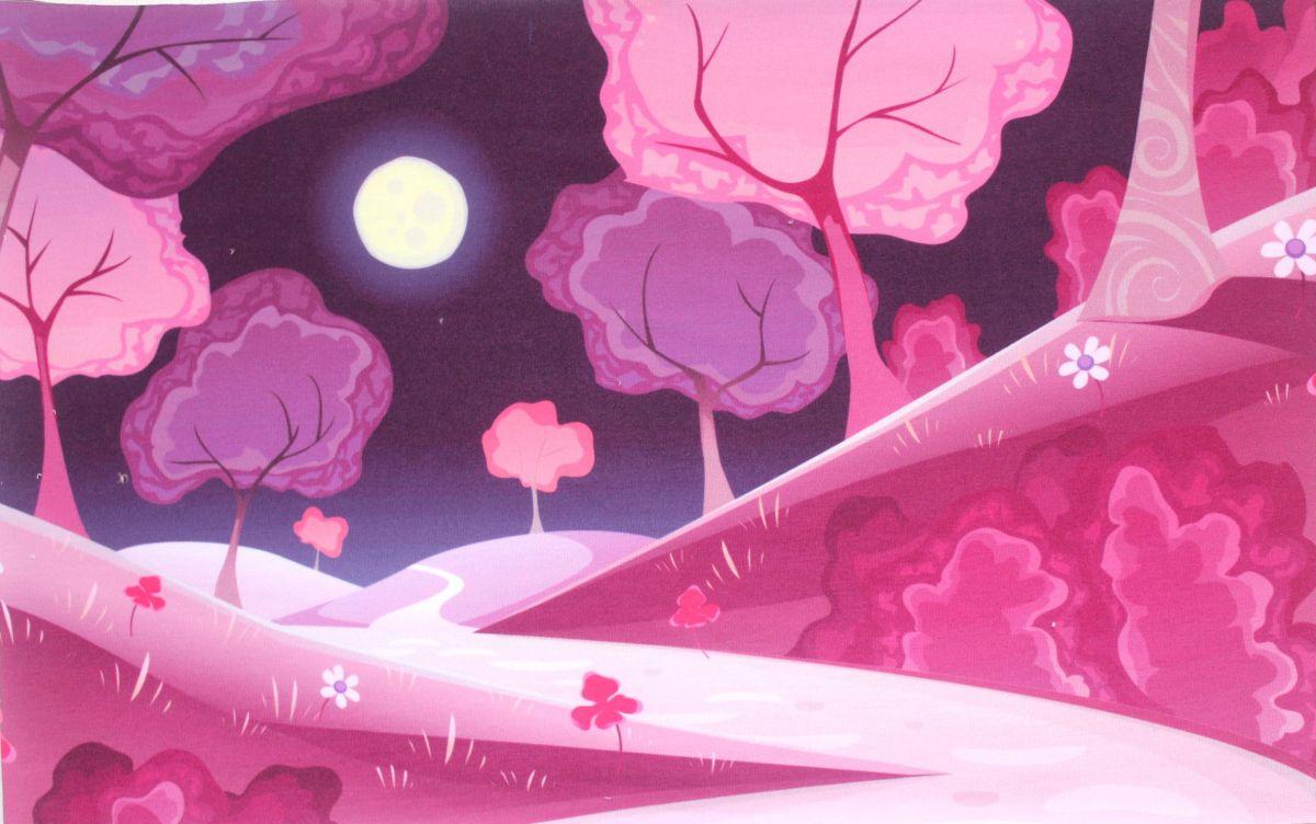 Panel na čepice SKEJŤAČKA - růžový les- teplákovina panel Mavatex