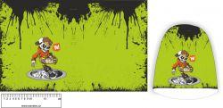 Panel na čepice SKEJŤAČKA - kostlivec zelený
