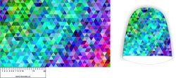 Panel na čepice SKEJŤAČKA - barevný geometrický mix