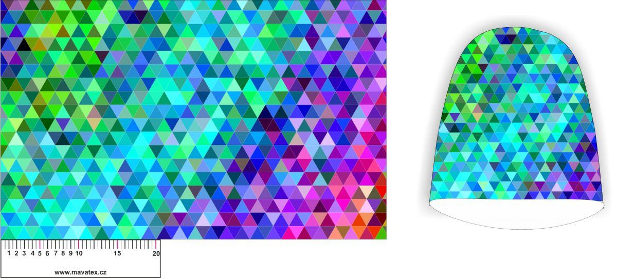 Panel na čepice SKEJŤAČKA - barevný geometrický mix Mavatex
