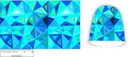 Panel na čepice SKEJŤAČKA -modré trojúhelníky