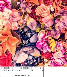 Panelový tisk - podzimní růže- kepr- malý