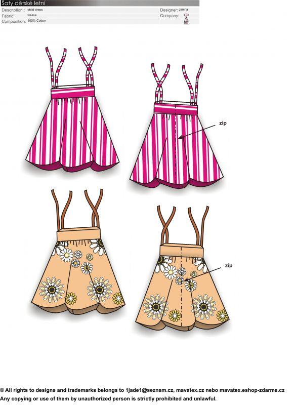 Šaty letní jednoduché z kusů látky mavatex