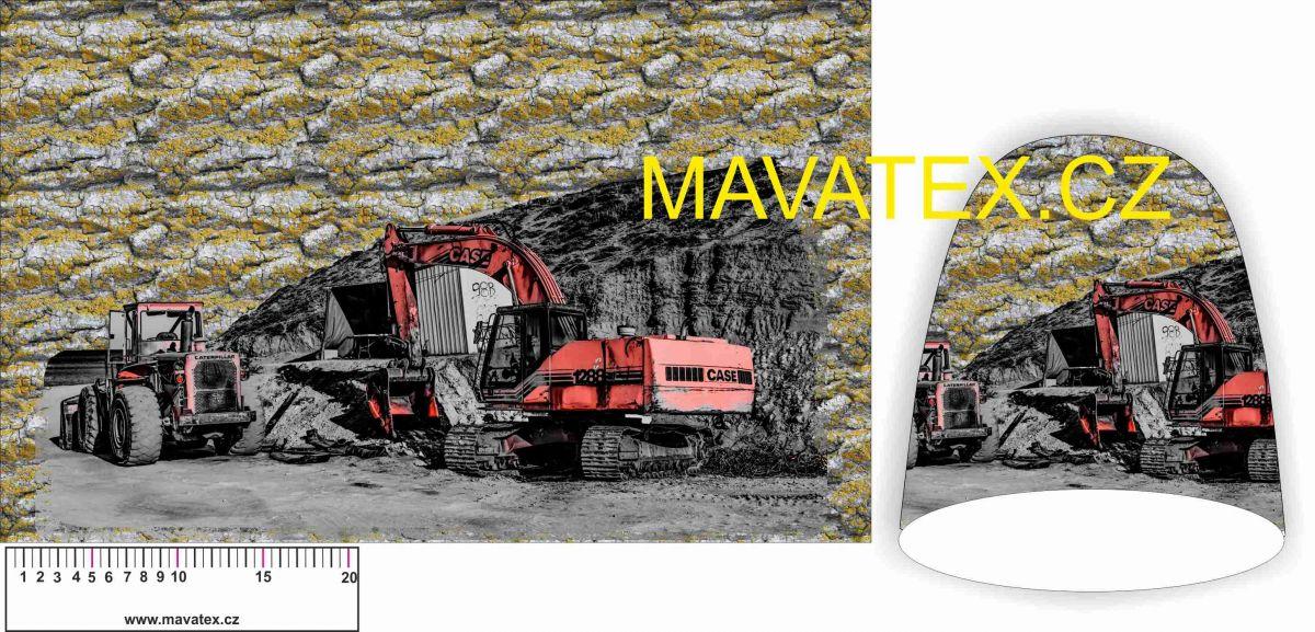 Panel na čepice SKEJŤAČKA -těžké stroje vyrobeno v EU