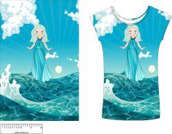 Panel na triko - vodní víla