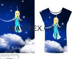 Panel na triko - víla na noční obloze