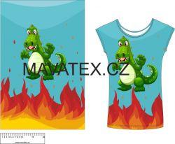 Panel na triko - drak v ohni