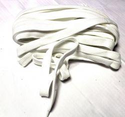 Plochá široká tkanice 2 cm bílá -tkanice k teplákům, stahovací tkanice, šňůrka na stahování kalhot vyrobeno v EU