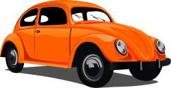 brouk oranžový- aplikace k našití-kepr