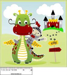 Panel na polštář - pohádkový drak