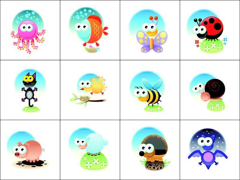 Panel pexeso- zvířátka - obrázky na látce, designový tisk vyrobeno v EU- atest pro děti bavlna