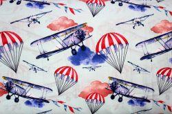 Světle modrá bavlna letadla