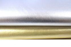 Koženka textilní zlatá vyrobeno v EU