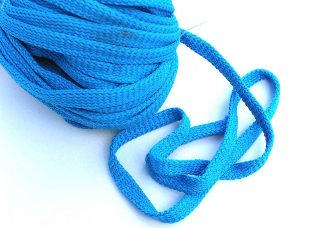 Plochá tkanice tyrkysová 1cm -tkanice k teplákům, stahovací tkanice, šňůrka na stahování kalhot vyrobeno v EU