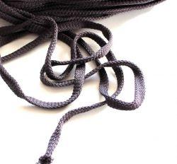 Plochá tkanice tmavě šedá 1cm