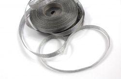 Dekorační stužka stříbrná - 1cm