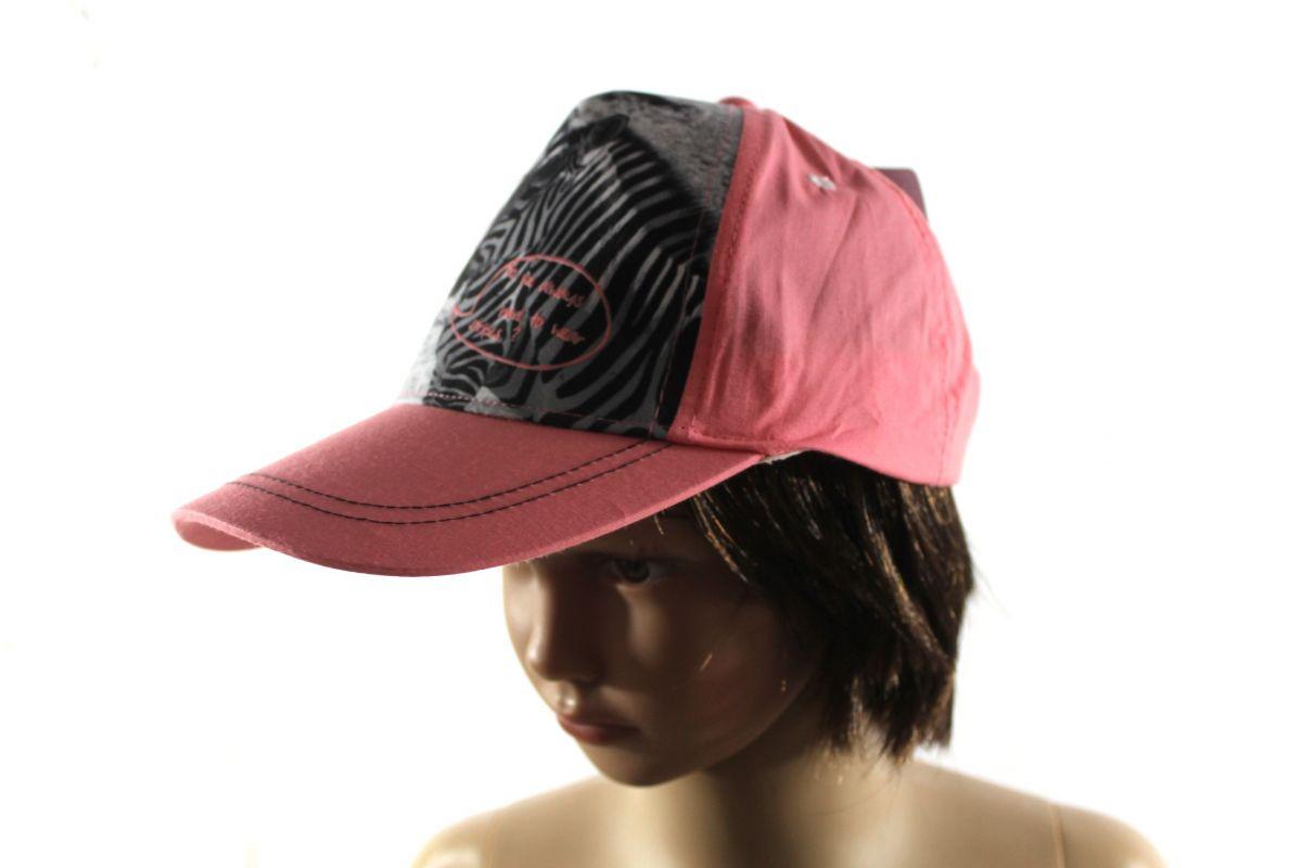 Dětská kšiltovka zebra - růžová- dětské čepice vyrobeno v EU