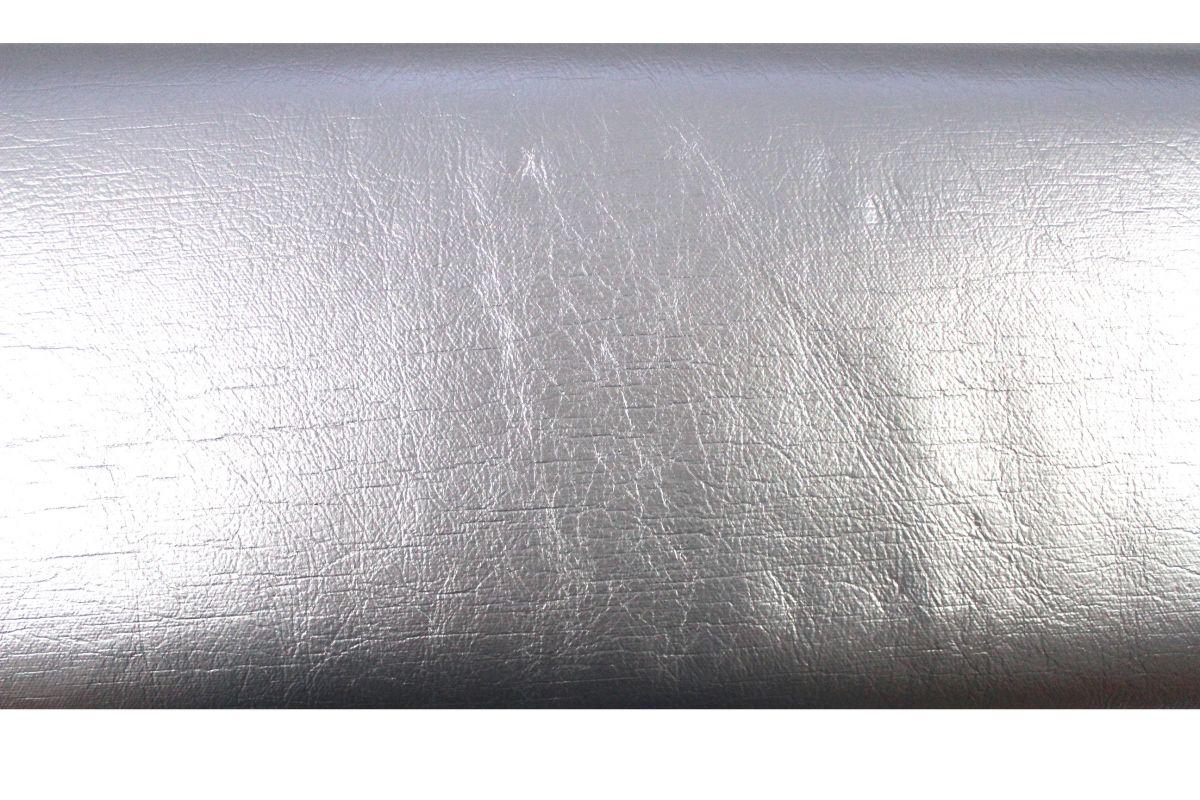 Koženka textilní stříbrná vyrobeno v EU