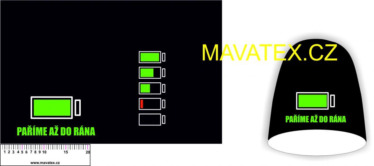 Panel na čepice SKEJŤAČKA - MALÁ- paříme až do rána Mavatex