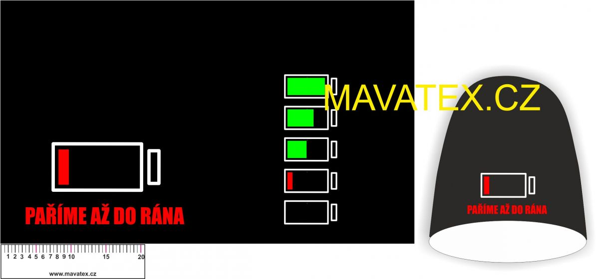 Panel na čepice SKEJŤAČKA - VELKÁ- paříme až do rána Mavatex