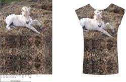 Panel na  triko hříbátko na slámě - soft finnish