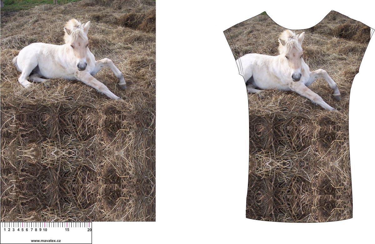 Panel na triko hříbátko na slámě - soft finnish vyrobeno v EU