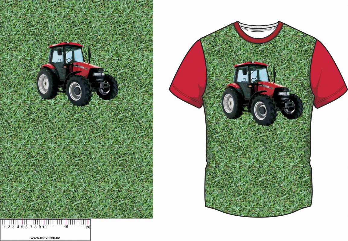 Panel na triko - traktor- soft finnish vyrobeno v EU