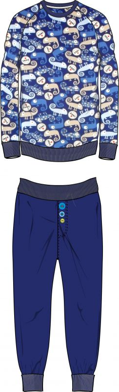 Papírový střih -pyžamko RAGLÁN Mavatex