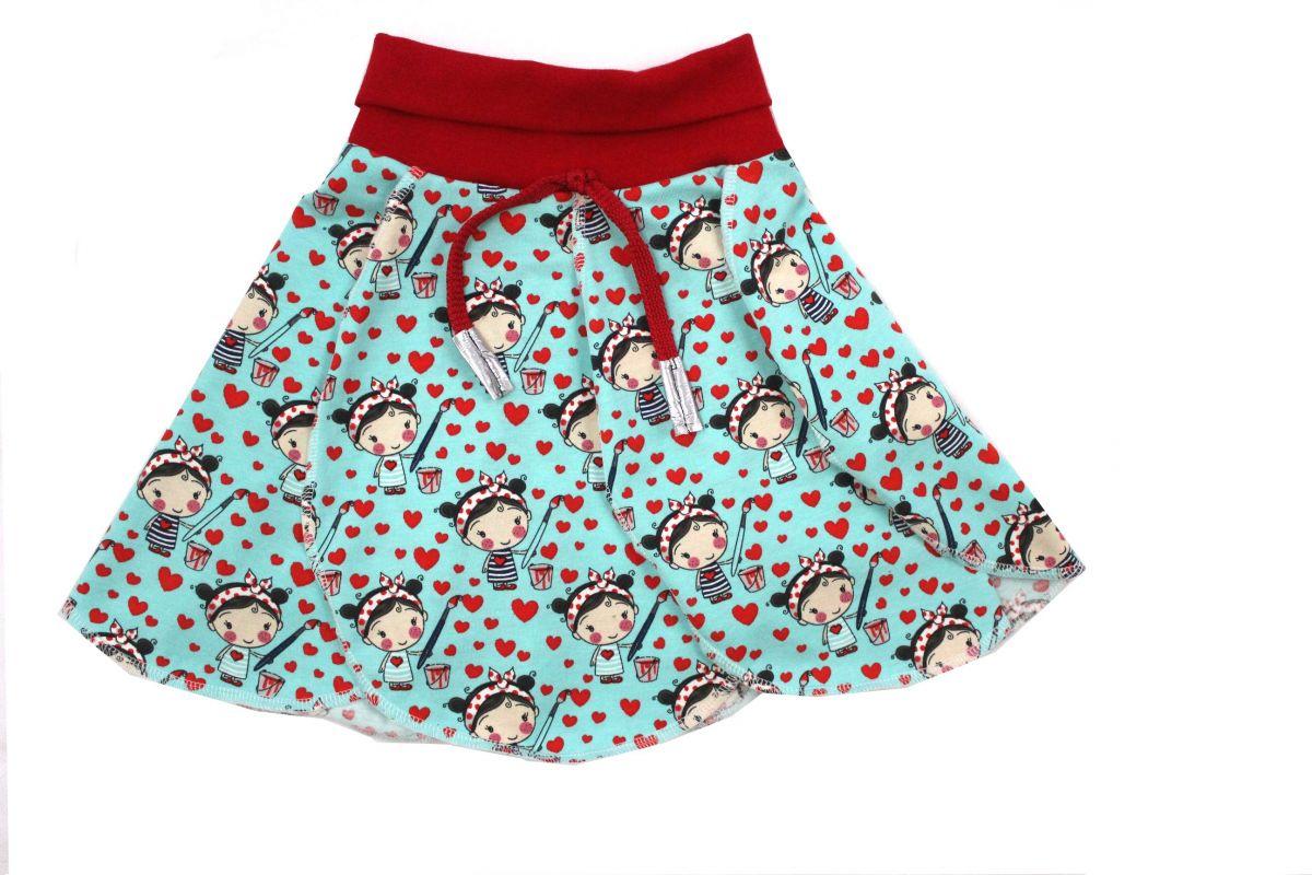 Papírový střih-sukně Amálka -sukně- jak ušít sukni Mavatex