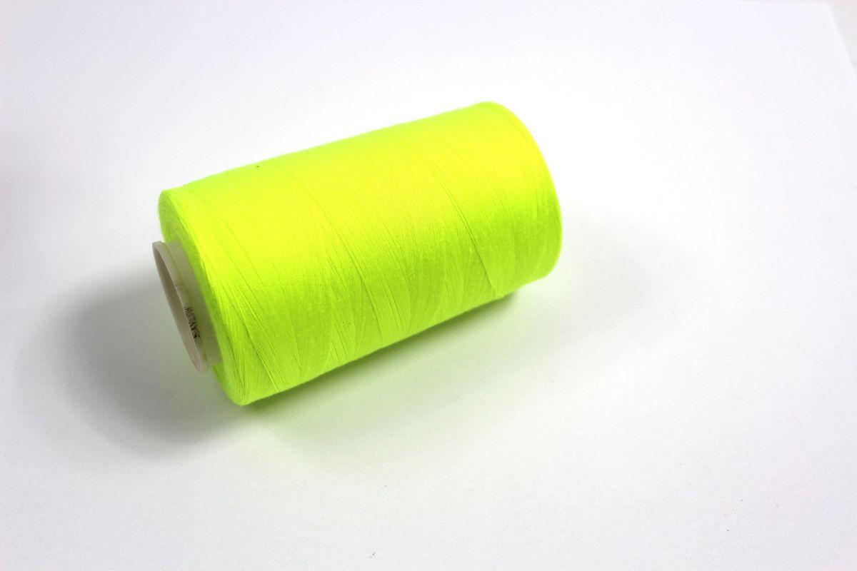 šicí nit svítivě žlutá 5000 yard- šicí nit , nit na šití ,nit na overlock vyrobeno v EU