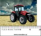 Traktor v poli- aplikace k našití vyrobeno v EU- atest pro děti bavlna