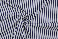 Bavlna modro-bílý námořnický pruh vyrobeno v EU- atest pro děti bavlna