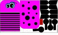 Pyžamožrout - příšerka růžovo-černá vyrobeno v EU- atest pro děti bavlna
