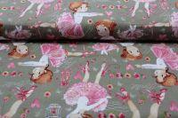 Šedá bavlna baletky vyrobeno v EU- atest pro děti bavlna