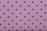 Rib 1x1 světle růžová se světlými hvězdičkami