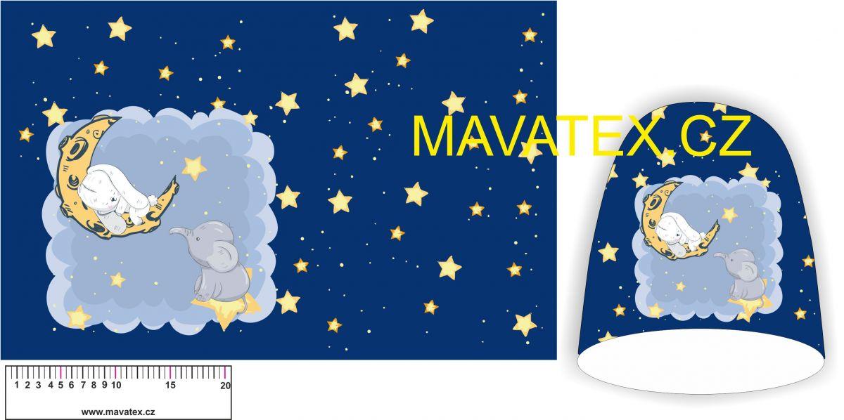 Panel na čepice SKEJŤAČKA - zajíček na měsíci Mavatex