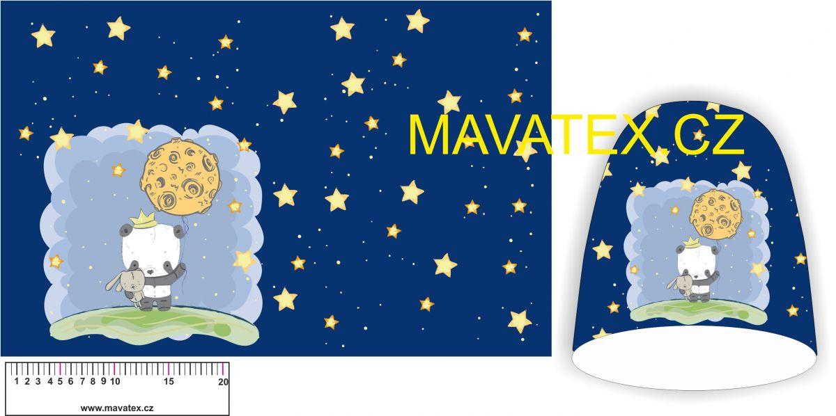 Panel na čepice SKEJŤAČKA - pandička v noci Mavatex