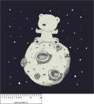 Panel na polštář -medvídek na měsíci