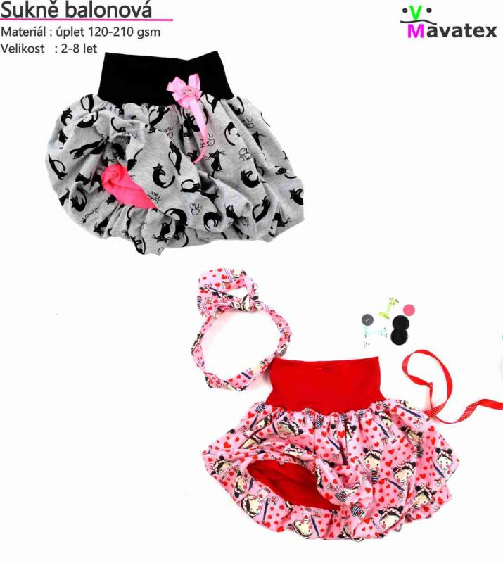 PDF střih-sukně balonová -sukně- jak ušít sukni Mavatex