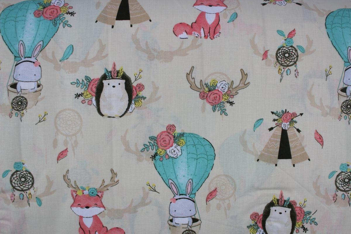 Béžová bavlna zvířátka s lapačem snů vyrobeno v EU