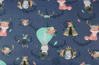 Tmavě modrá bavlna zvířátka s lapačem snů