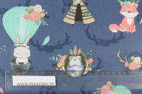 Tmavě modrá bavlna zvířátka s lapačem snů vyrobeno v EU