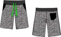 Papírový střih-Kra'tasy PÁNSKÉ ( chlapecké) teplákové - regular fit