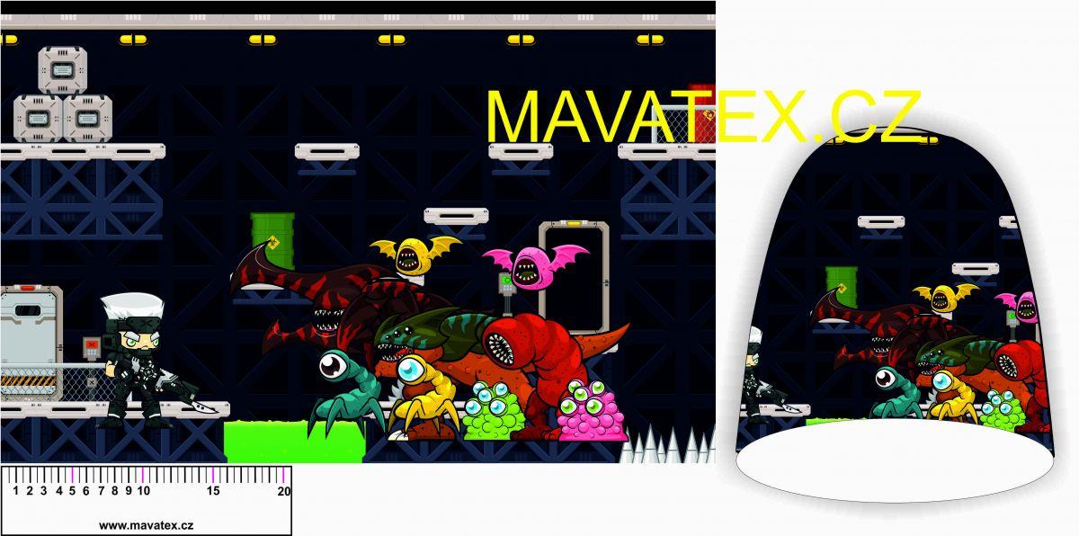 Panel na čepice SKEJŤAČKA - game s příšerami Mavatex