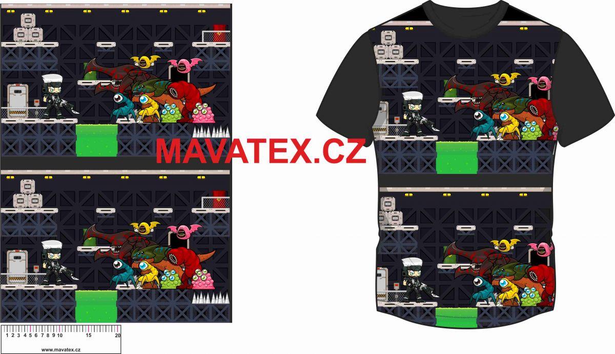 Panel na triko - noční games vyrobeno v EU