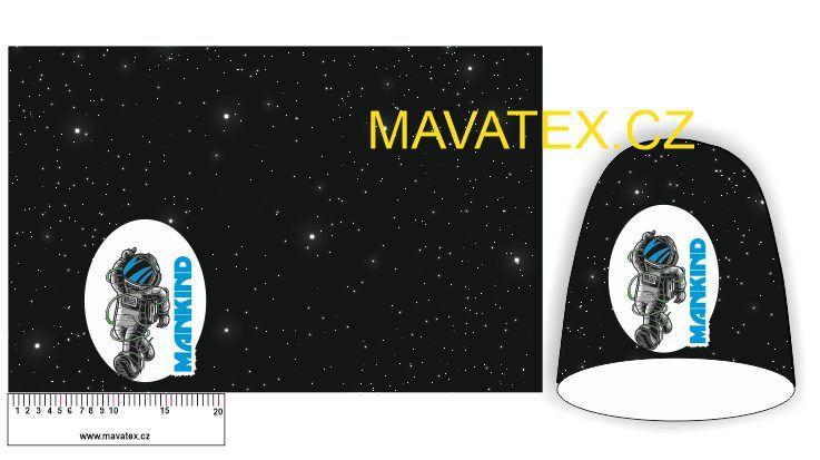 Panel na čepice SKEJŤAČKA - kosmonaut Mavatex